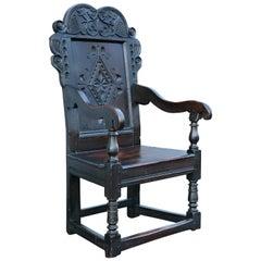 Jacobean Oak Wainscot Armchair