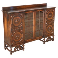Jacobean Style Oak Bookcase