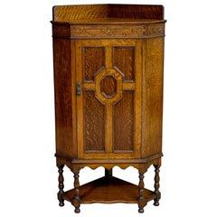 Jacobean Style Oak Corner Cupboard