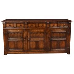 Jacobean Style Oak Dresser Base