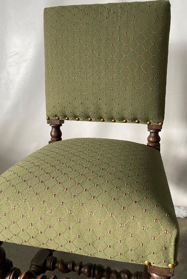 European Jacobean Style Side Chair For Sale