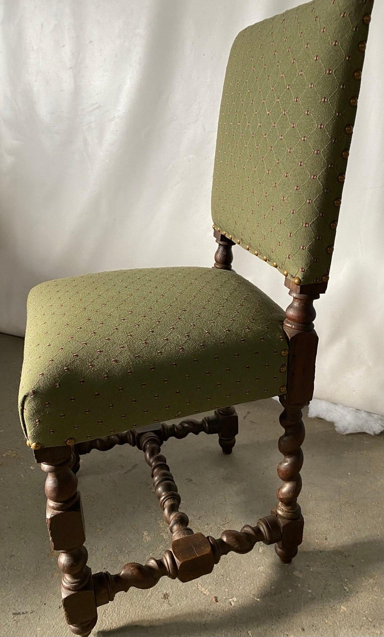Turned Jacobean Style Side Chair For Sale