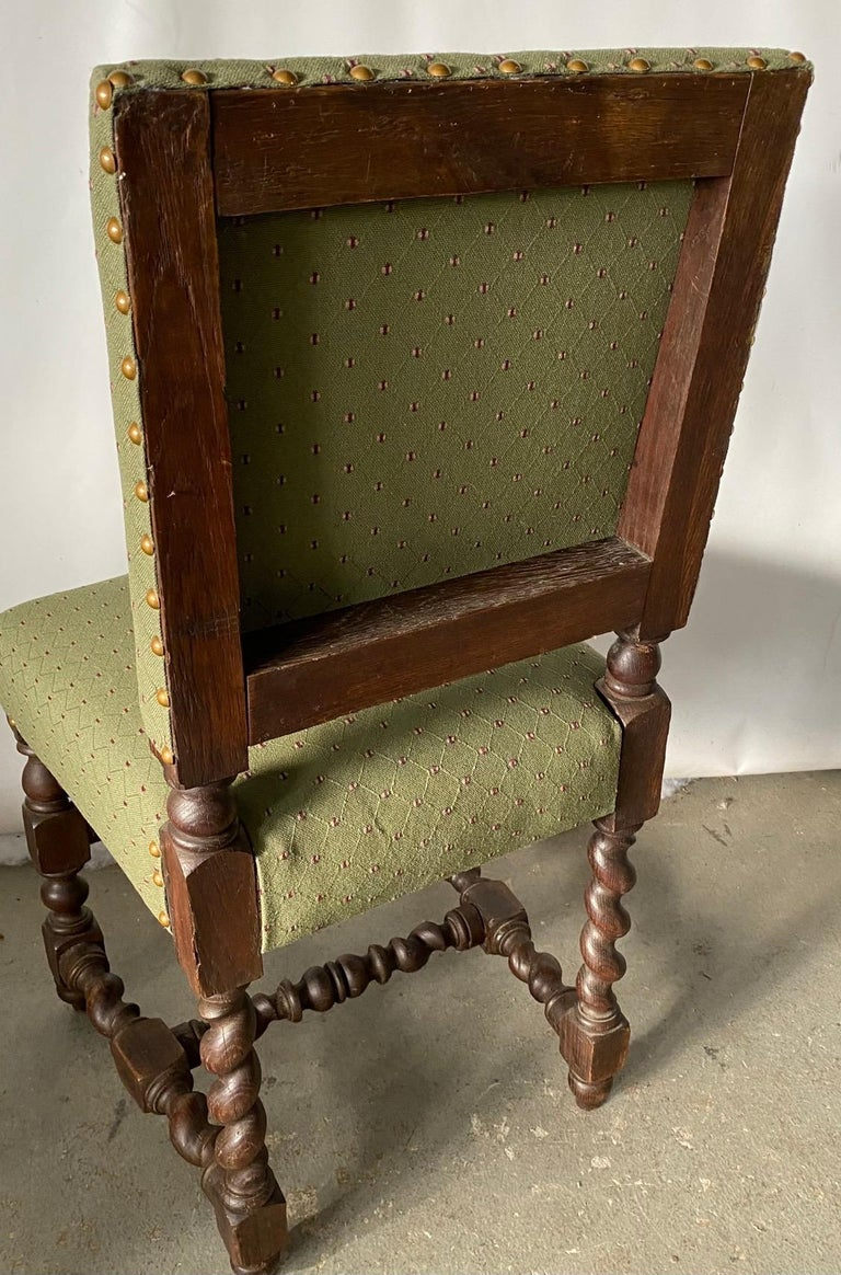 Jacobean Style Side Chair In Good Condition For Sale In Great Barrington, MA