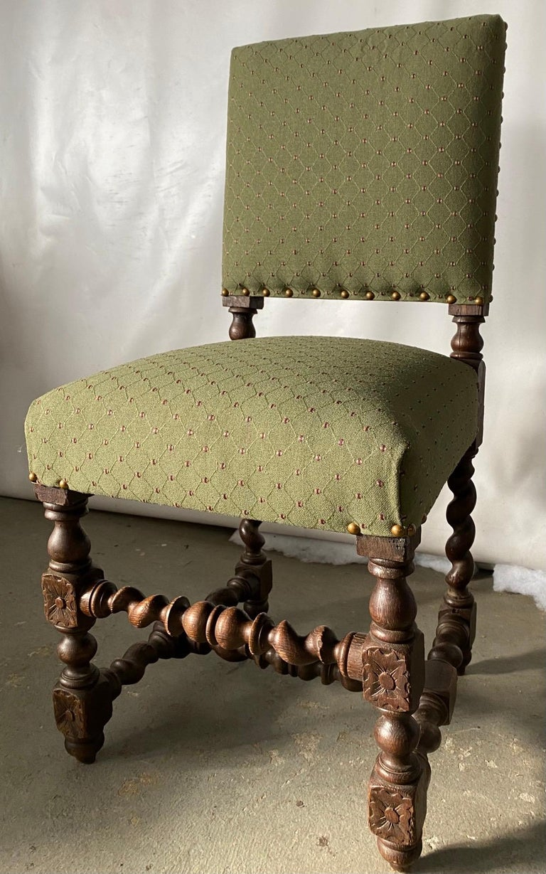 Wood Jacobean Style Side Chair For Sale