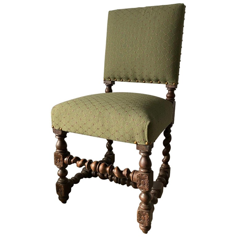 Jacobean Style Side Chair For Sale