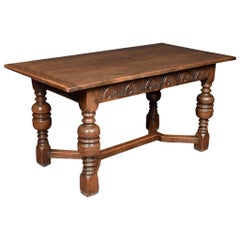 Jacobian Style Oak Refectory Table