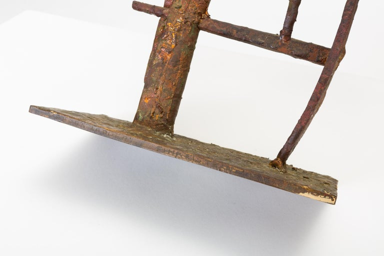 """""""Jacob's Ladder"""" Welded Metal Sculpture by Max Finkelstein For Sale 8"""