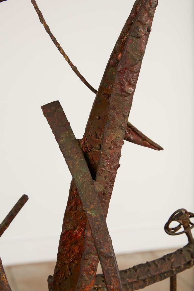 """""""Jacob's Ladder"""" Welded Metal Sculpture by Max Finkelstein For Sale 3"""