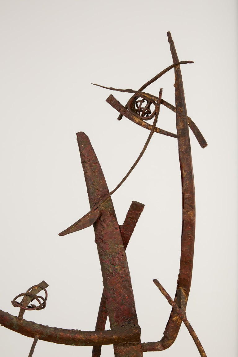 """""""Jacob's Ladder"""" Welded Metal Sculpture by Max Finkelstein For Sale 5"""