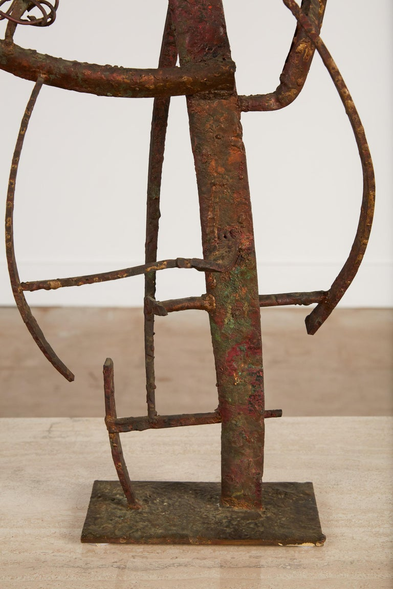 """""""Jacob's Ladder"""" Welded Metal Sculpture by Max Finkelstein For Sale 6"""