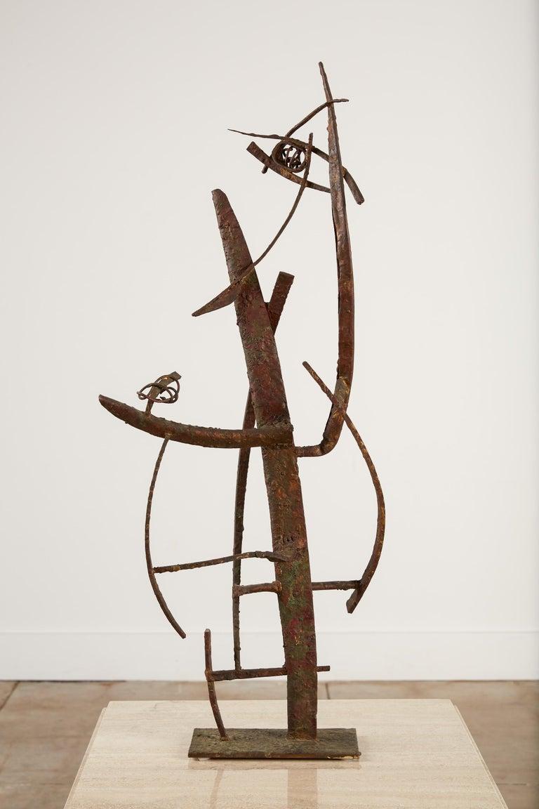 "Mid-Century Modern ""Jacob's Ladder"" Welded Metal Sculpture by Max Finkelstein For Sale"
