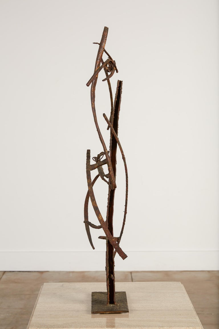 """American """"Jacob's Ladder"""" Welded Metal Sculpture by Max Finkelstein For Sale"""