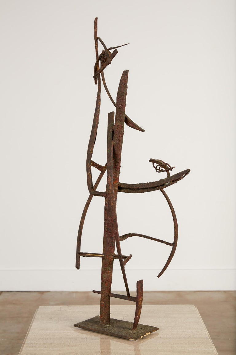 """""""Jacob's Ladder"""" Welded Metal Sculpture by Max Finkelstein In Good Condition For Sale In Los Angeles, CA"""