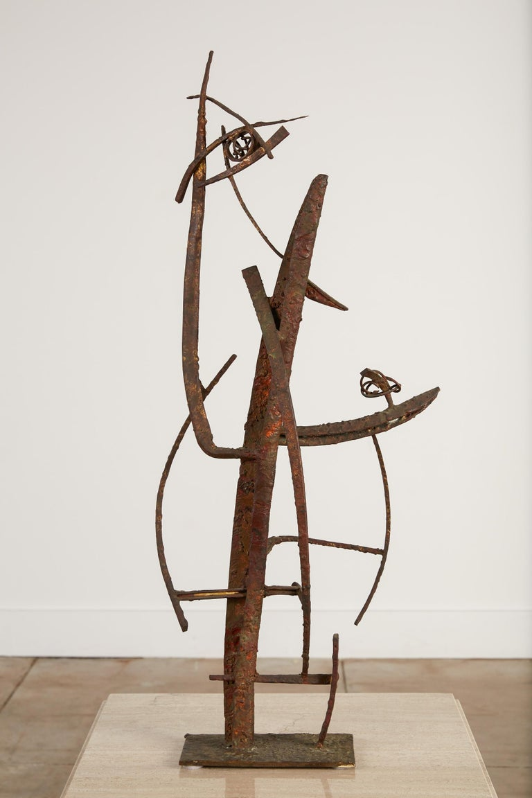 """Mid-20th Century """"Jacob's Ladder"""" Welded Metal Sculpture by Max Finkelstein For Sale"""
