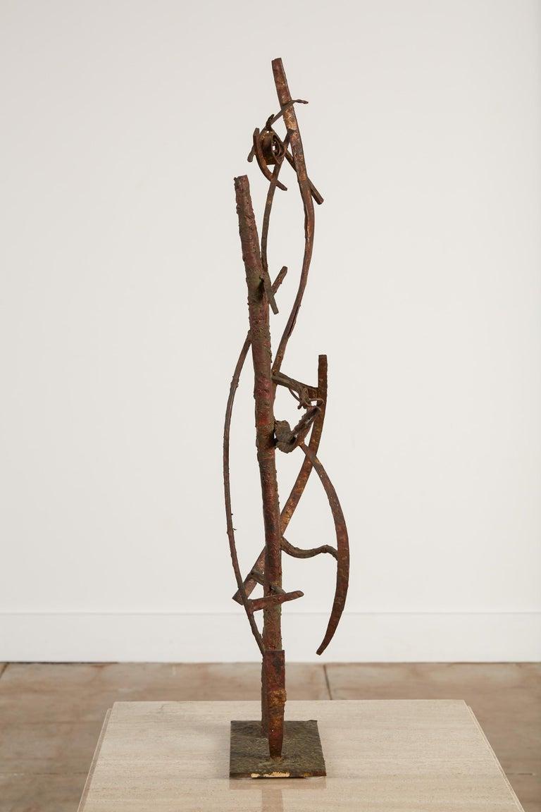 "Brass ""Jacob's Ladder"" Welded Metal Sculpture by Max Finkelstein For Sale"
