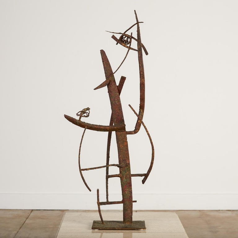 """""""Jacob's Ladder"""" Welded Metal Sculpture by Max Finkelstein For Sale 1"""