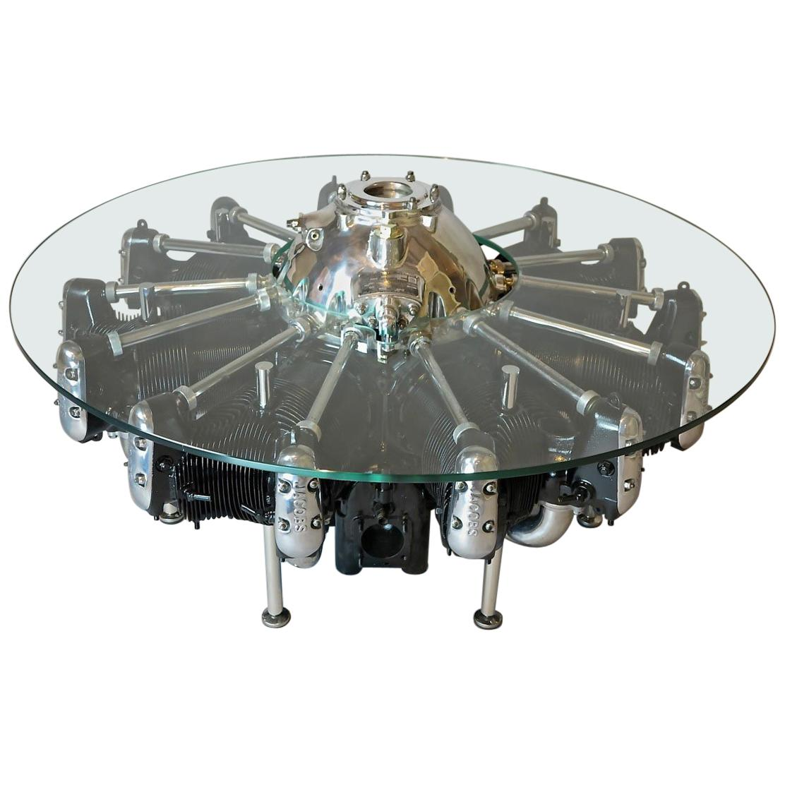 Lycoming R680 9 Cylinder Radial Engine Table, USA, circa 1936-1938
