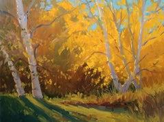 """Autumn Glow"" Maine Plein Air Oil Painting"