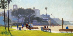 """Boardwalk Meeting"" Laguna Beach California Seascape Plein Air Painting"
