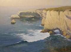 """""""Calm Waters, Shell Beach"""" California Plein Air Oil Painting by Jacobus Baas"""