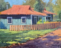 """""""Classic Hawaii Cottages """"  Hawaii Plein Air Painting"""