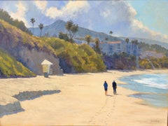 """Clearing Skies, Aliso Beach"" Laguna Beach California Seascape Painting"