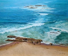 """Criss Cross Waves""  Laguna Beach California Seascape"