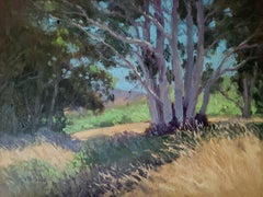 """""""Early Summer Colors""""  California Plein Air Painting With Greens, Blues"""