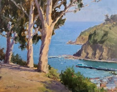 """Eucalyptus Above Avalon""  California Plein Air Painting"
