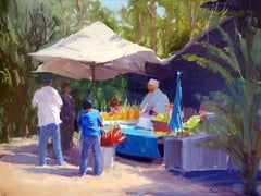 """Fresh Pineapple"" North Shore Hawaii Plein Air Oil Painting by Jacobus Baas"