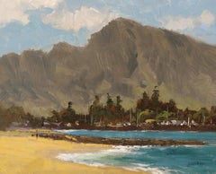 """Haleiwa Beach"" North Shore Hawaii Plein Air Oil Painting"