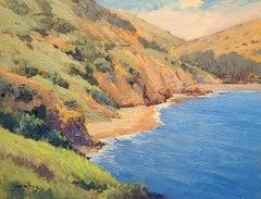 """Hidden Beach On Catalina""  California Plein Air Painting"