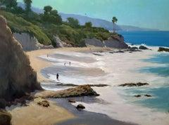 """High Tide Spring"" Southern California Coastal Scene"