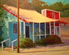 """Historic Haleiwa"" North Shore Hawaii Plein Air Oil Painting by Jacobus Baas"