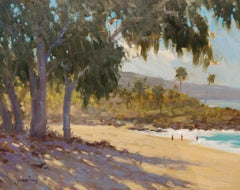 """Iron Tree Shadows"" North Shore Hawaii Plein Air Oil Painting"