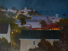 """Laguna Night Light""  Southern California Night Scene Plein Air Painting"
