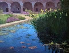 """Lily Pond, San Juan Mission"" California Mission Plein Air Painting"