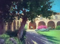 """Mid-Day Shadows"" San Juan Capistrano California Mission Plein Air Painting"