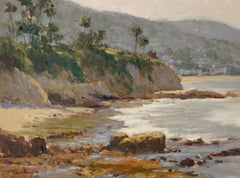 """""""Morning Low Tide"""" Laguna Beach California Seascape Plein Air Painting"""
