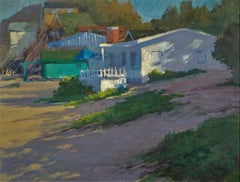 """Morning Shadows In Crystal Cove"" California Plein Air Painting by Jacobus Baas"