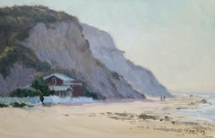 """Morning Stroll""  Crystal Cove California Plein Air Painting"