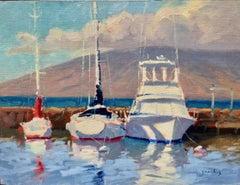 """Morning Sun, Haliewa Harbor""  North Shore Hawaii Plein Air Oil Painting"