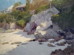 """Moss Point Cliff"" California Plein Air Painting by Jacobus Baas"
