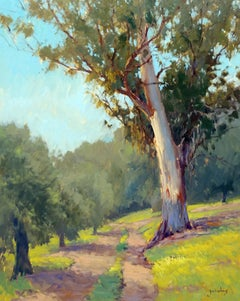 """Old Eucalyptus"" California Plein Air Oil Painting"