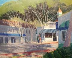 """""""Park and Coast Hwy."""" Laguna Beach California Plein Air Painting"""