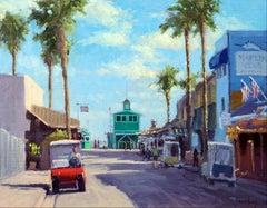 """""""Red Golf Cart""""  California Plein Air Painting"""