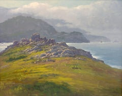 """Rocky Point, Big Sur"" California Plein Air Oil Painting by Jacobus Baas"