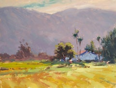 """Santa Ynez Farm"" California Plein Air Oil Painting by Jacobus Baas"