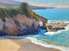 """South Laguna Vista"" Laguna Beach California Seascape Plein Air Painting"