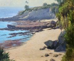 """Sunlit Beach, Heisler"" Southern California Coastal Scene"